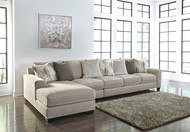 Ardsley Pewter LAF Corner Chaise, Armless Chair & RAF Sofa Sectional