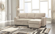 Darton Cream 2-Piece Sleeper Sectional with Storage