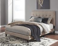 Adelloni Light Brown King Upholstered HDBD/FTBD/Roll Slats