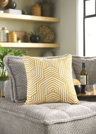 Adrik Golden Yellow Pillow (4/CS)