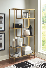 Frankwell Gold Finish Bookcase