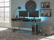 Barolli Gunmetal Gaming Desk