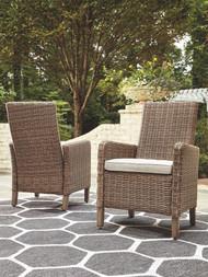 Beachcroft Beige Side Chair with Cushion (2/CN)
