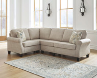 Alessio Beige 4 Pc. Sofa, Wedge, Armless Chair, Loveseat Sectional