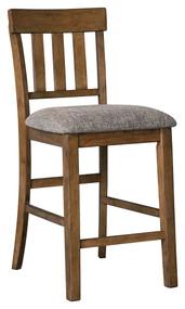 Flaybern Brown Upholstered Barstool