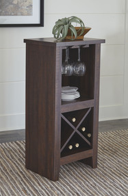 Turnley Brown Wine Cabinet