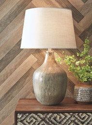 Mari Gray/Gold Finish Glass Table Lamp (1/CN)