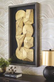 Grantton Antique Gray/Gold Finish Wall Decor
