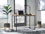 Gerdanet Light Brown/Black Home Office Desk