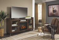 Starmore Brown XL TV Stand with Fireplace Insert Infrared