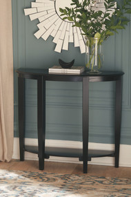 Altonwood Black Console Sofa Table