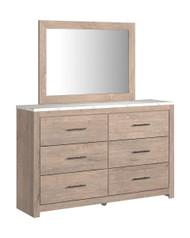 Senniberg Light Brown/White Dresser, Mirror