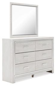 Altyra White Dresser, Mirror