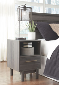Brymont Dark Gray One Drawer Night Stand
