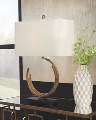 Jaslene Antique Gold Finish Metal Table Lamp (1/CN)