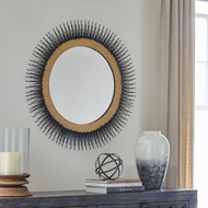 Elodie Black/Gold Finish Accent Mirror