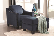 Creeal Heights Ink Chair with Ottoman