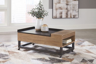 Fridley Two-tone LIFT TOP COCKTAIL TABLE