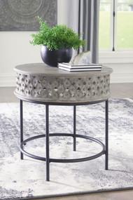 Rastella Gray/Black Round End Table