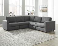 Candela Charcoal 5-Piece Sectional