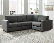 Candela Charcoal 4-Piece Sectional