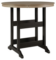 Fairen Trail Black/Driftwood Round Bar Table w/UMB OPT