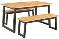 Town Wood Brown/Black Dining Table Set (3/CN)