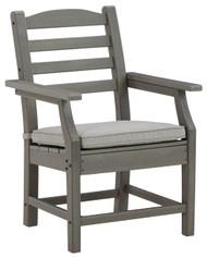 Visola Gray Arm Chair With Cushion (2/CN)