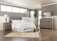 Zelen Warm Gray 3 Pc. Dresser, Mirror, Queen/Full Panel Headboard