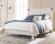 Shawburn White/Dark Charcoal Gray 2 Pc. Queen Panel Platform Bed