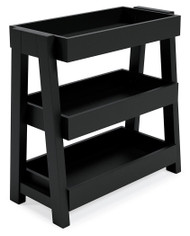 Blariden Metallic Gray Shelf Accent Table