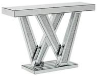 Gillrock Mirror/Silver Finish Console Table