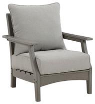 Visola Gray Lounge Chair w/Cushion (2/CN)