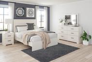 Stelsie White 6 Pc. Dresser, Mirror, Queen Panel Bed, 2 Nightstands
