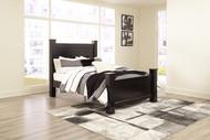 Mirlotown Almost Black Queen Poster Bed