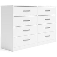 Finch White Eight Drawer Dresser