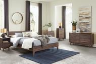 Calverson Mocha 6 Pc. Dresser, Three Drawer Chest, Four Drawer Chest, Full Panel Platform Bed, Nightstand