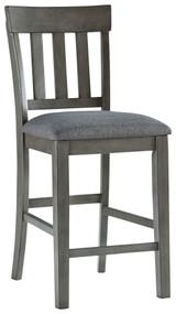 Hallanden Two-tone Gray Upholstered Barstool