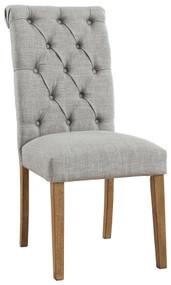 Harvina Light Gray Dining Upholstered Side Chair