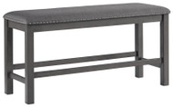 Myshanna Two-tone Gray Double Upholstered Bench (1/CN)