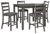 Bridson Gray Square Counter TBL Set (5/CN)