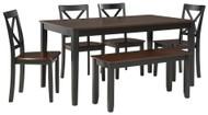 Larsondale Brown/Black Dining Room Table Set (6/CN)