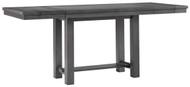 Myshanna Gray Rectangular Counter Extension Table