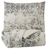 Addey Charcoal/Bone Queen Comforter Set