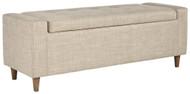 Winler Light Beige Upholstered Accent Bench
