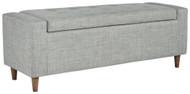Winler Light Gray Upholstered Accent Bench
