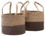 Parrish Natural/Charcoal Basket Set (2/CN)