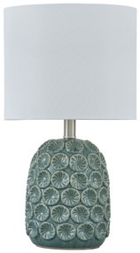 Moorbank Teal Ceramic Table Lamp (1/CN)