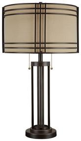 Hanswell Dark Brown Metal Table Lamp (1/CN)