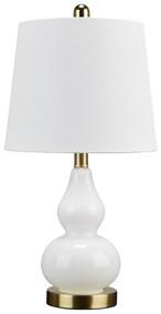 Makana White/Brass Glass Table Lamp (1/CN)
